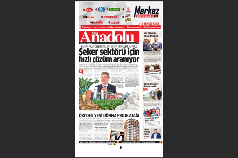 Star Gazetesi Kasım Ayı Anadolu Eki